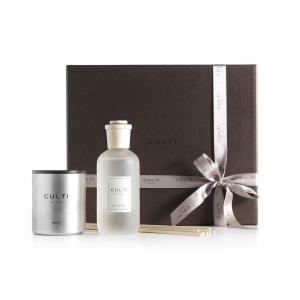 Giftbox Diffusore Stile Tessuto e Candela Velvet