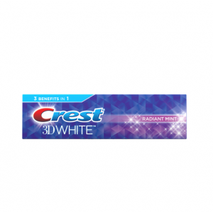 Crest 3D White Radiant Mint Whitening 4.8 OZ.