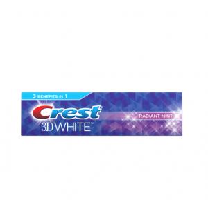 Crest 3D White Radiant Mint Whitening 4.8 OZ.