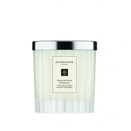 English Pear & Fresia Candela - Fluted Glass Edition
