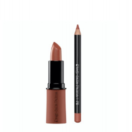 76+268 Hot Nude + rusty red - rookwood red lip kit