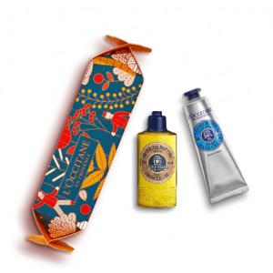 Cofanetto Cracker Karitè olio doccia 30ml + crema mani 30ml